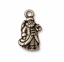 Brass Oxide Silver St. Nick  Charm