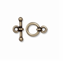 Brass Oxide 3/8 Inch Anna's Toggle Clasp