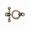 Brass Oxide 1/2 Inch Anna's Toggle Clasp