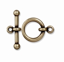 Brass Oxide 5/8 Inch Anna's Toggle Clasp