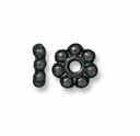 4mm Black Finish Beaded Heishi (10PK)