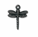 Black Finish Dragonfly Charm