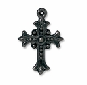 Black Finish Fleur Cross Drop
