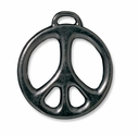 "Black Finish 1"" Peace Pendant"