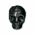 Black Finish Rose Skull Bead