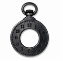 Black Finish Clock Charm