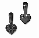Black Finish Heart Bail Glue Pad