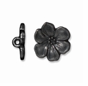 Black Finish Apple Blossom Button