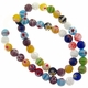 8mm Millefiori Round Mixed Color Beads 1 Strand
