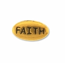 Pewter Gold Faith Bead