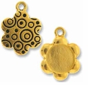 Antique Gold Lg. Flower Picture Frame Charm