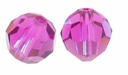 Fuchsia Swarovski 5000 5mm Crystal Beads (10PK)