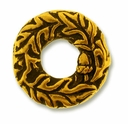 Antique Gold 14mm Oak Bead