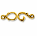 Antique Gold Vine Hook & Eye Clasp Set