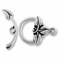 Antique Rhodium 3 Leaf Clasp Set