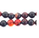 Natural Agate 8mm Round Beads 16 inch Strand