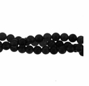 4mm Black Obsidian Round Beads 16 Inch Strand