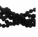 6mm Black Obsidian Round Beads 16 Inch Strand
