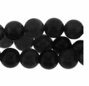 8mm Black Obsidian Round Beads 16 Inch Strand