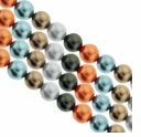 Multi Color 617 4mm South Sea Pearls 16-Inch Strand