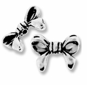 Antique Silver Bow Bead