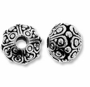 Antique Silver 10mm Oasis LH Bead
