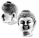 Antique Silver Buddha Bead