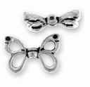 Antique Silver Butterfly Wings Bead