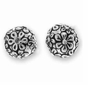 Antique Silver Floral Bead