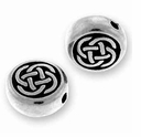 Antique Silver Small Celtic Circle Bead