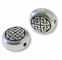 Antique Silver Medium Celtic Diamond Bead