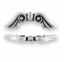 Antique Silver Angel Wings Bead