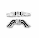 Antique Silver Small Angel Wing Bead