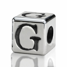 4.5mm Small Hole Alphabet Letter Bead Letter G