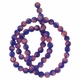 Navy Glass Millefiori 6mm Round Beads 16-Inch Strand
