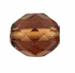 10mm Lt. Smokey Topaz Czech Fire Polished Round Glass Beads (25PK)