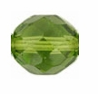 10mm Olivine Czech Fire Polished Round Glass Beads (25PK)