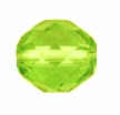 10mm Peridot Czech Fire Polished Round Glass Beads (25PK)