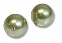 8mm Lt Green Swarovski 5810 Crystal Pearls (50PK)