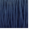 Navy Blue 2mm Waxed Cotton Craft Cord (1YD)