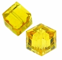 Light Topaz 5601 Swarovski 4mm Cube Bead (1PC)