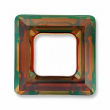 14mm Swarovski Square Ring 4439 Crystal Copper Cal V SI