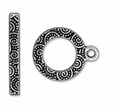 Antique Silver Spiral Clasp Set