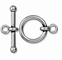Antiqued Silver 3/4 Inch Anna's Toggle Clasp