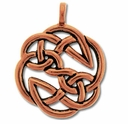 Pewter Copper Open Knot Pendant