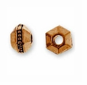 3mm Antique Copper Faceted Spacer (10PK)
