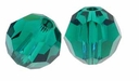Emerald 8mm Swarovski 5000 Round Crystal Beads (1PC)