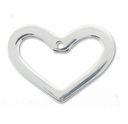 Sterling Silver 20mm x 15mm 1 Hole Heart Link (1PC)