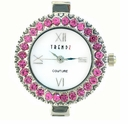Round Rose Austrian Crystal Watch Face