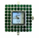 Square Emerald Austrian Crystal Watch Face